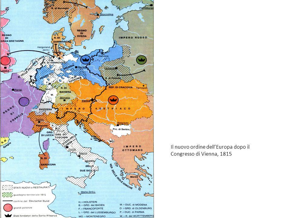 Il nuovo ordine dell'Europa dopo il Congresso di Vienna, 1815