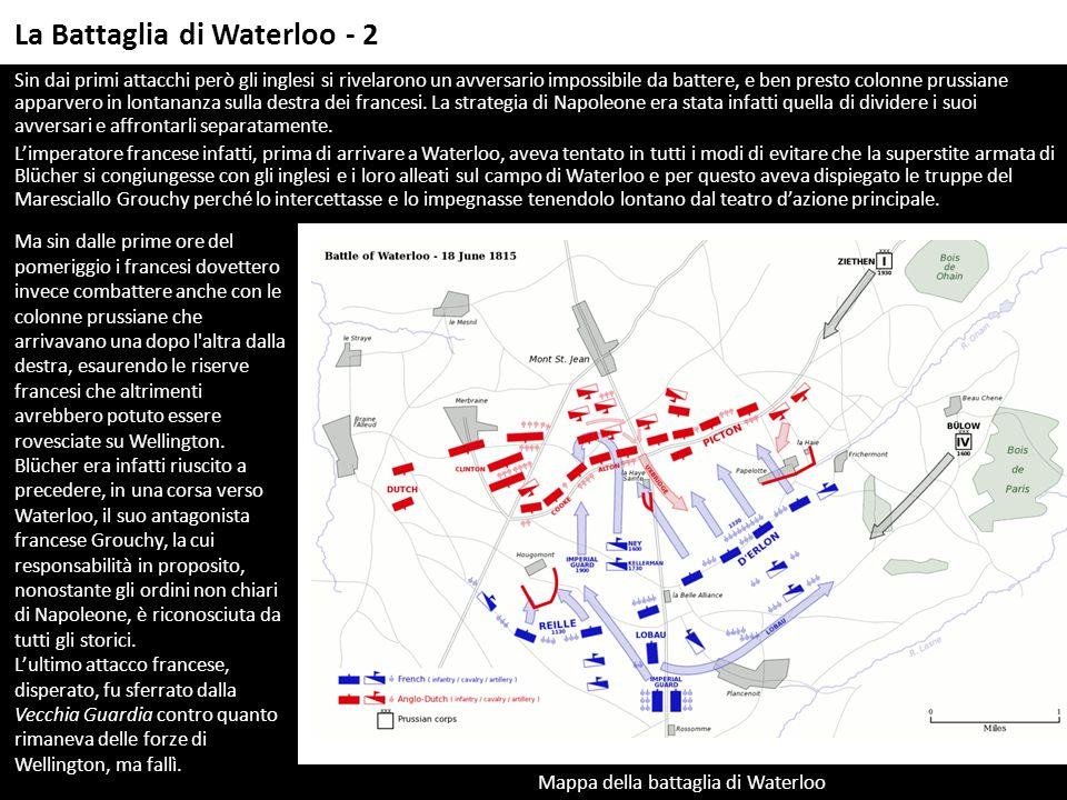 Mappa della battaglia di Waterloo