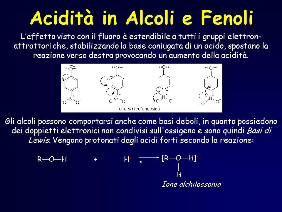 Acidità in Alcoli e Fenoli