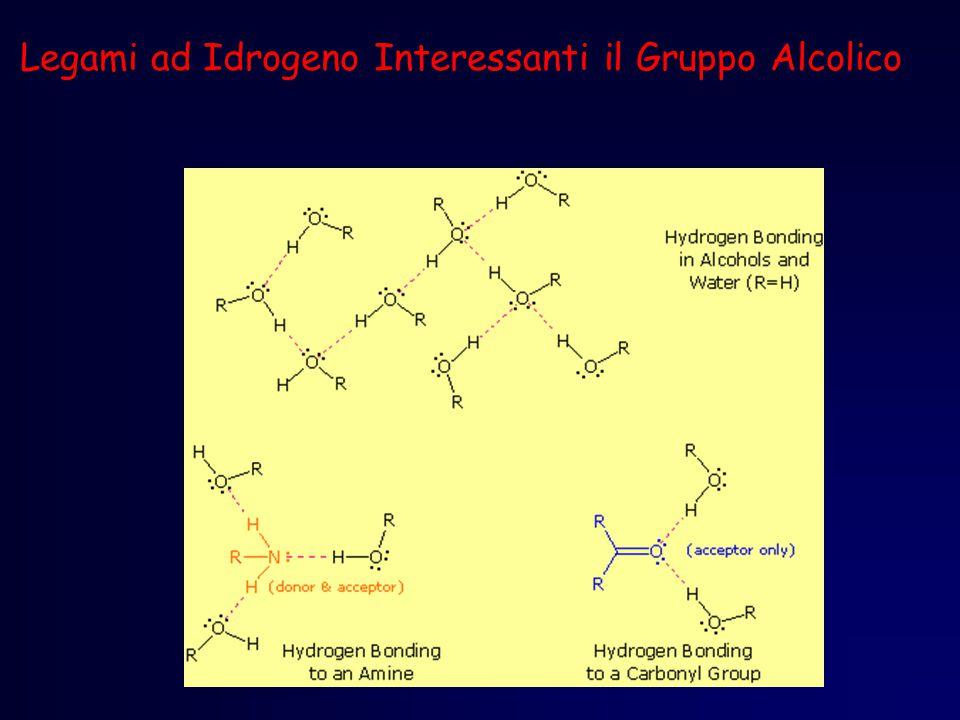 Legami ad Idrogeno Interessanti il Gruppo Alcolico