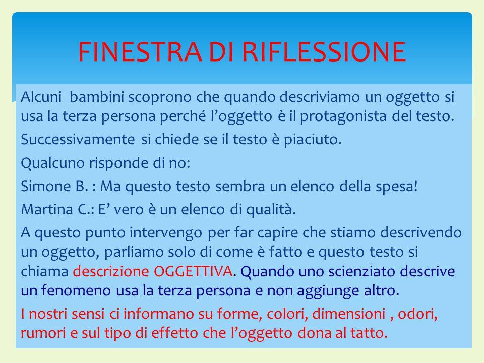 FINESTRA DI RIFLESSIONE