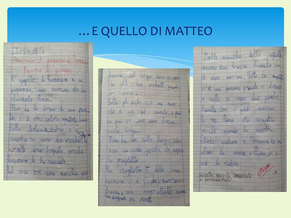 …E QUELLO DI MATTEO