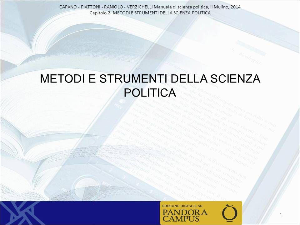 METODI E STRUMENTI DELLA SCIENZA POLITICA