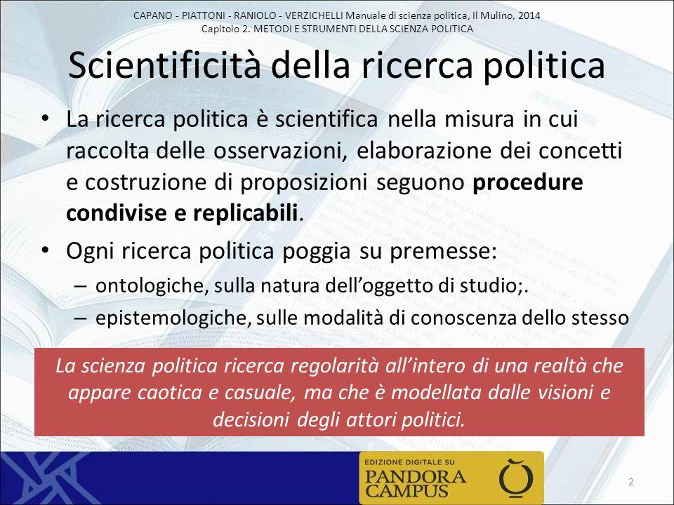 Scientificità della ricerca politica