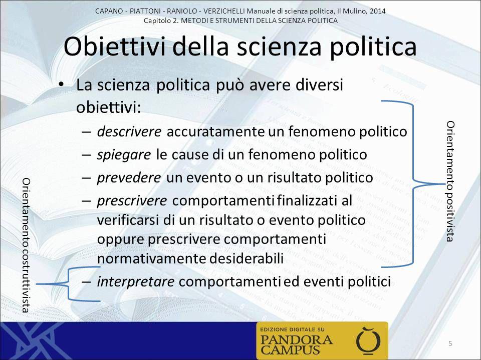 Obiettivi della scienza politica