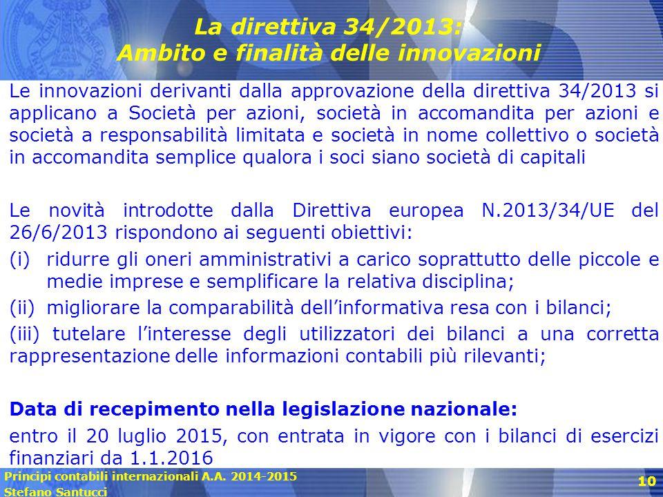 La direttiva 34/2013: Ambito e finalità delle innovazioni