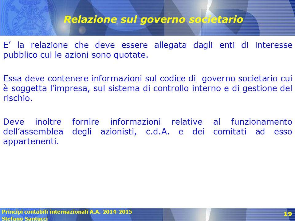 Relazione sul governo societario