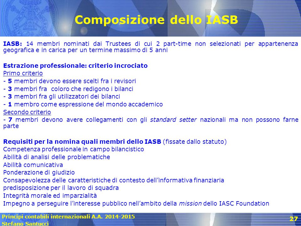 Composizione dello IASB