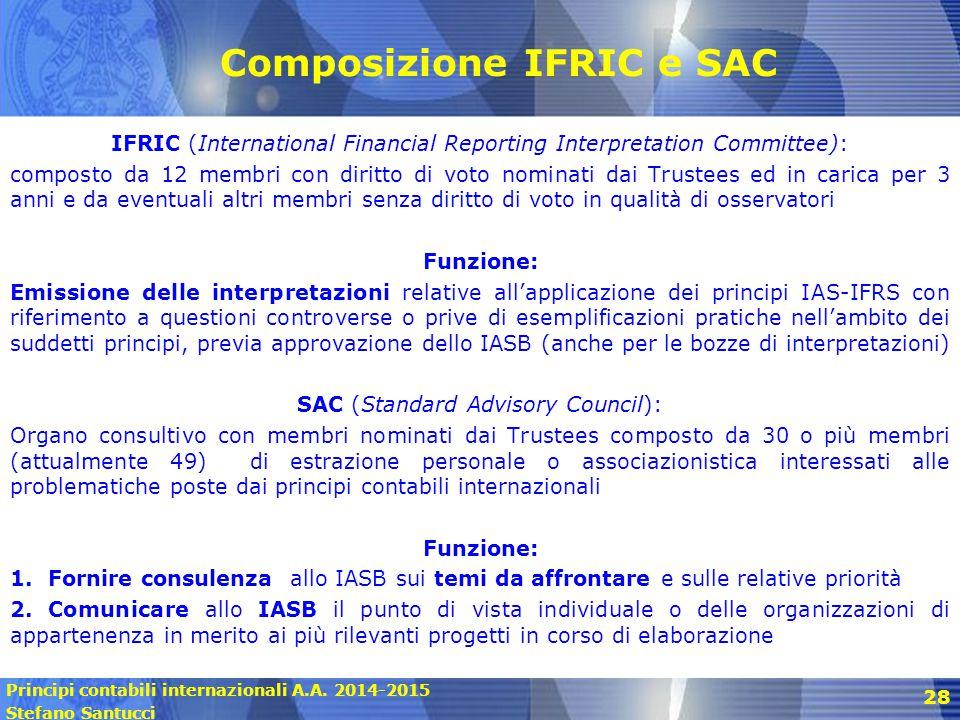 Composizione IFRIC e SAC