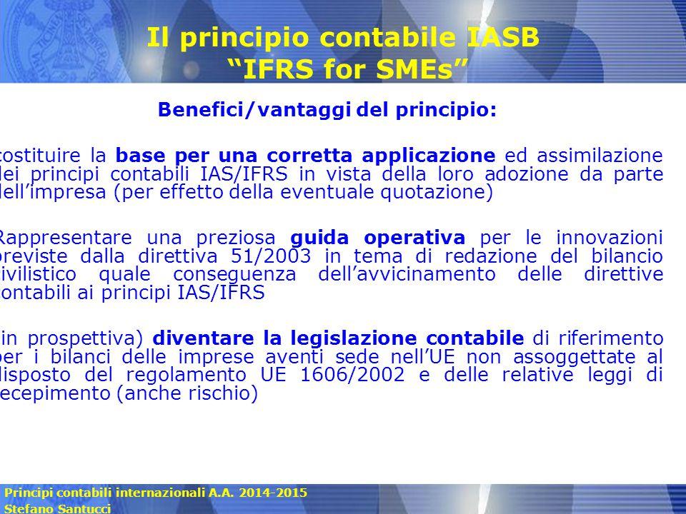 Il principio contabile IASB IFRS for SMEs