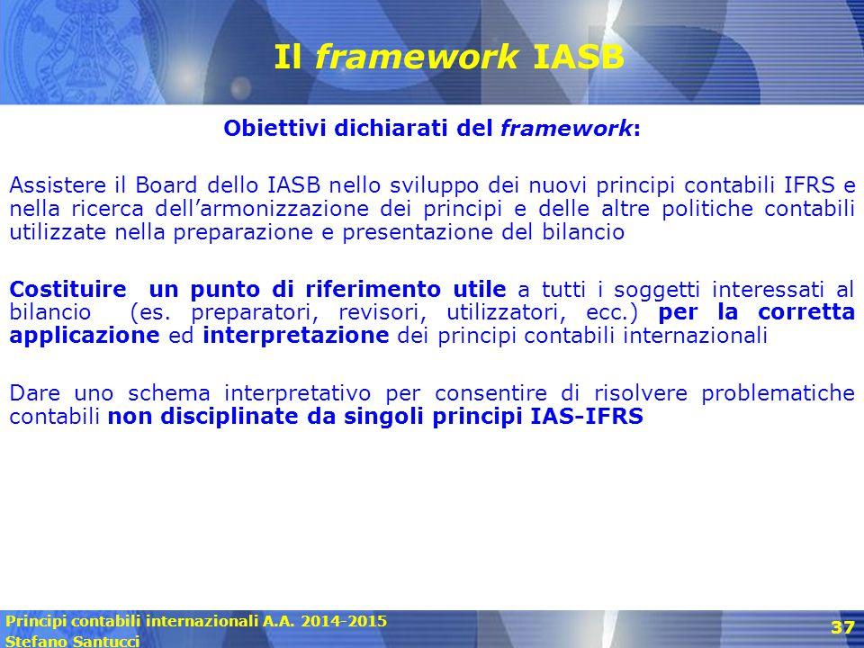 Obiettivi dichiarati del framework: