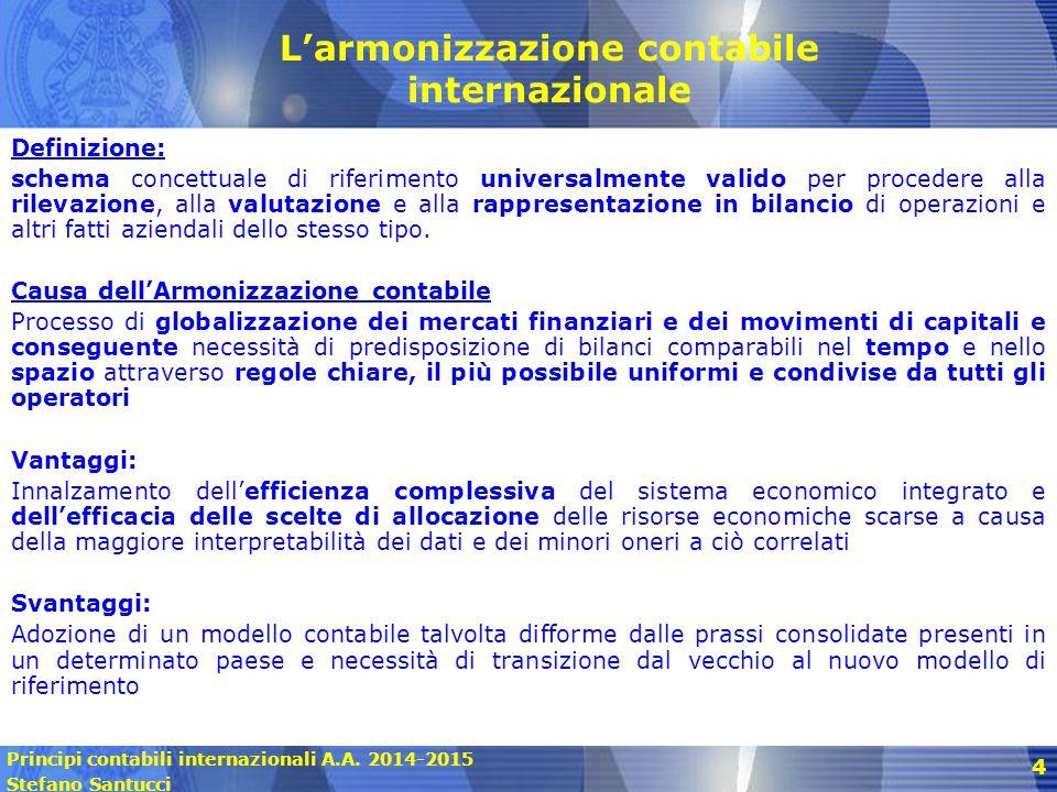 L'armonizzazione contabile internazionale