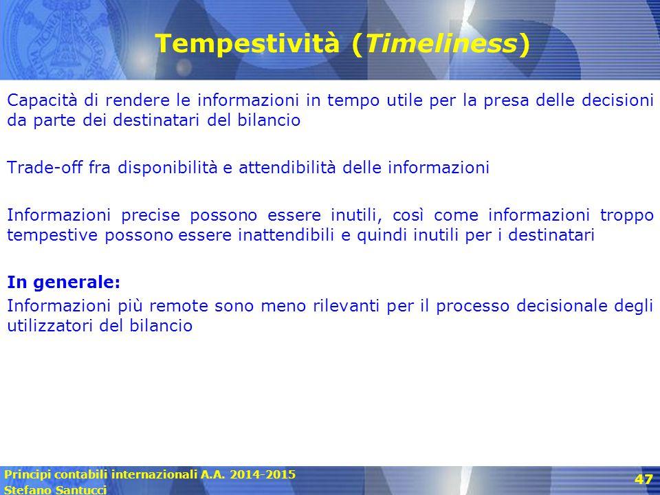 Tempestività (Timeliness)