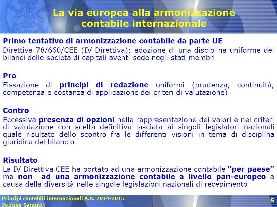 La via europea alla armonizzazione contabile internazionale