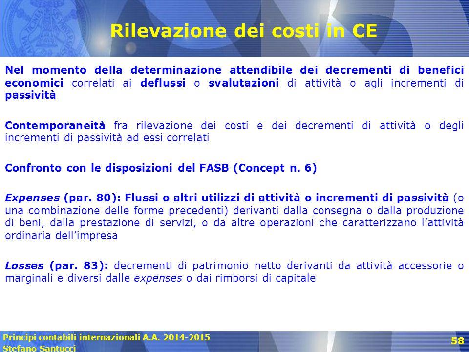 Rilevazione dei costi in CE