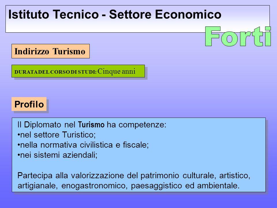Forti Istituto Tecnico - Settore Economico Indirizzo Turismo Profilo