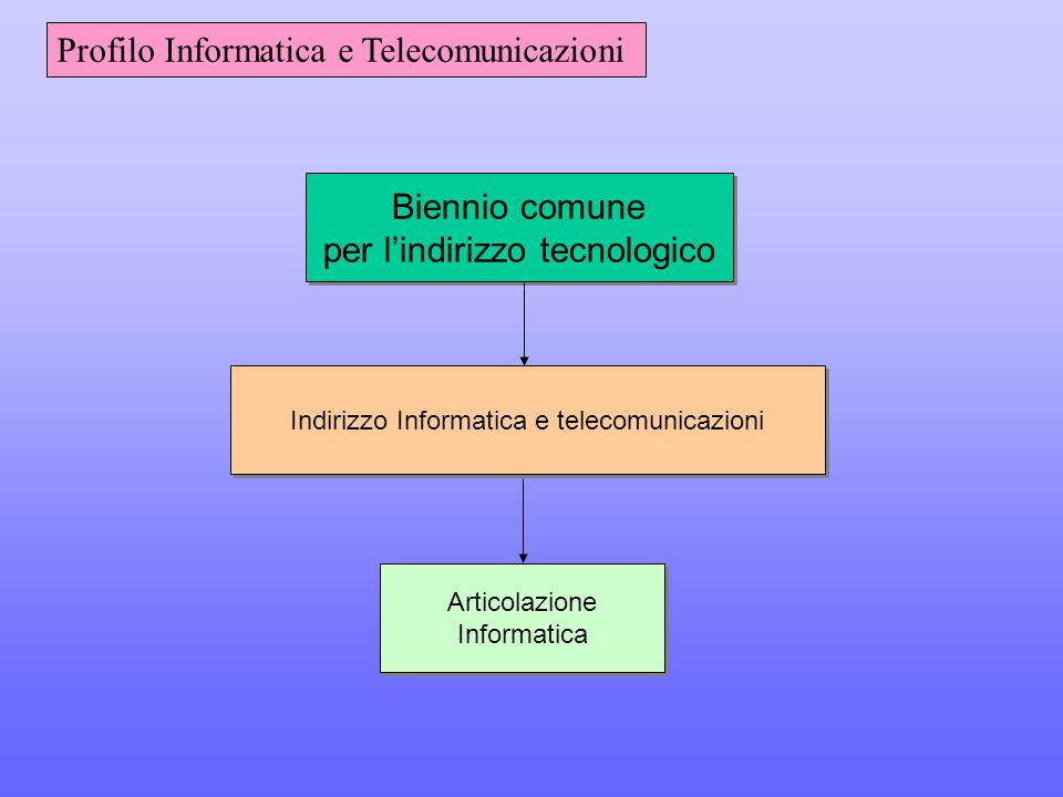 Profilo Informatica e Telecomunicazioni