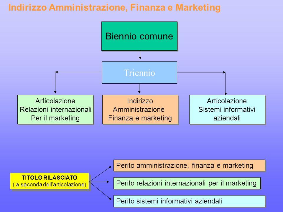 Indirizzo Amministrazione, Finanza e Marketing
