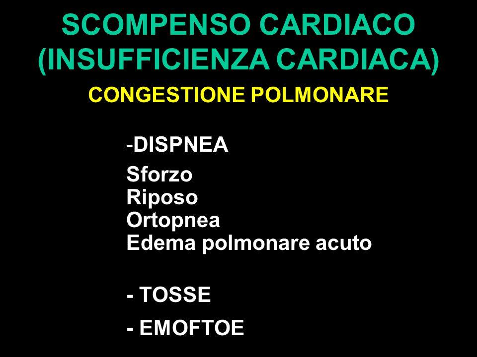 SCOMPENSO CARDIACO (INSUFFICIENZA CARDIACA) CONGESTIONE POLMONARE