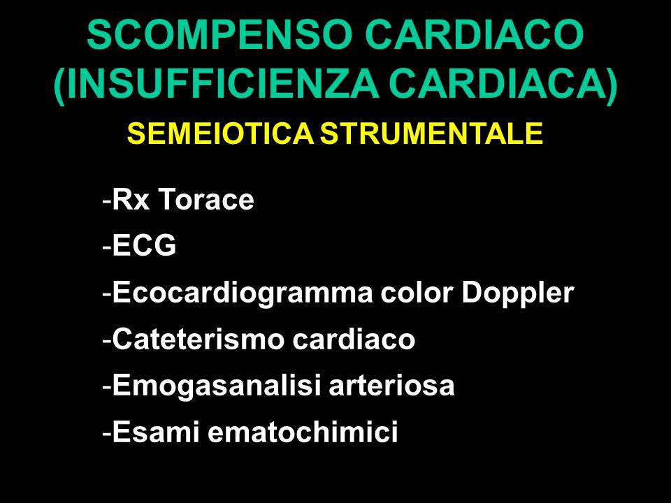 SCOMPENSO CARDIACO (INSUFFICIENZA CARDIACA) SEMEIOTICA STRUMENTALE