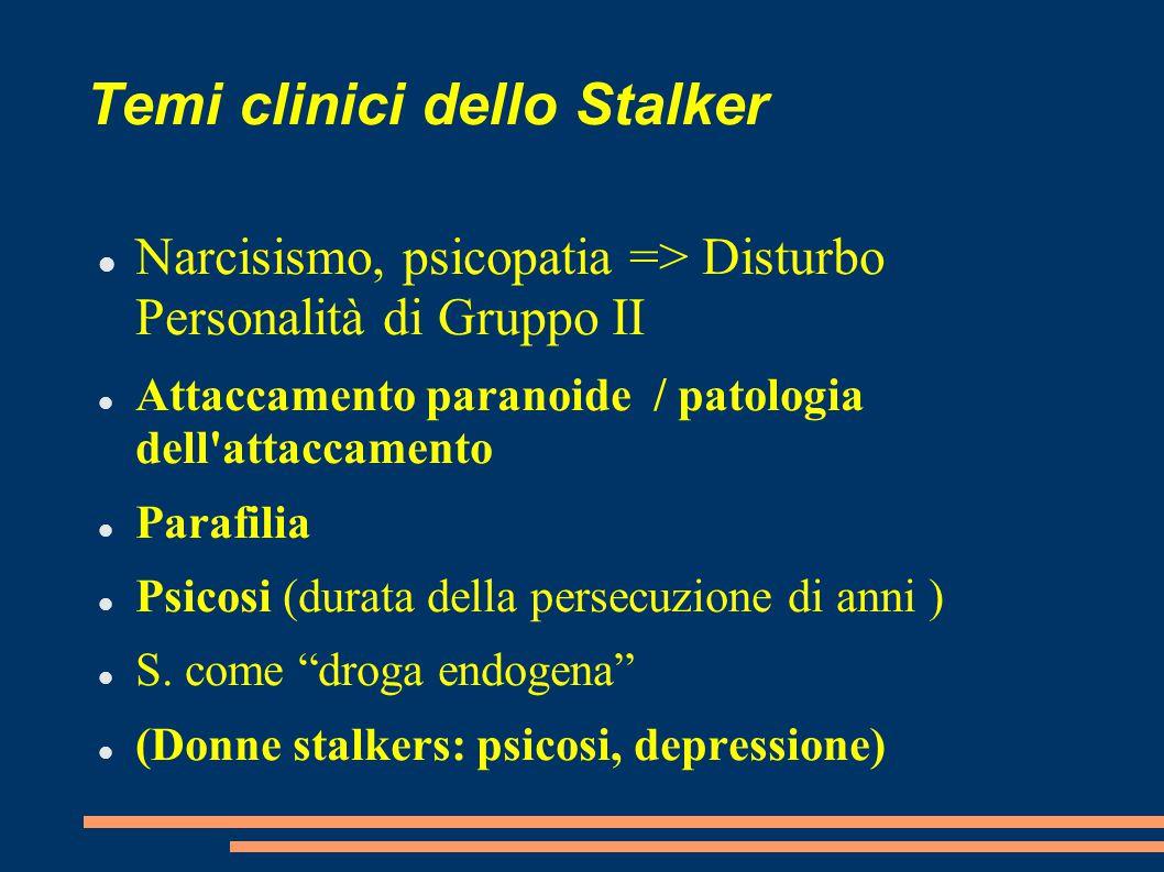 Temi clinici dello Stalker