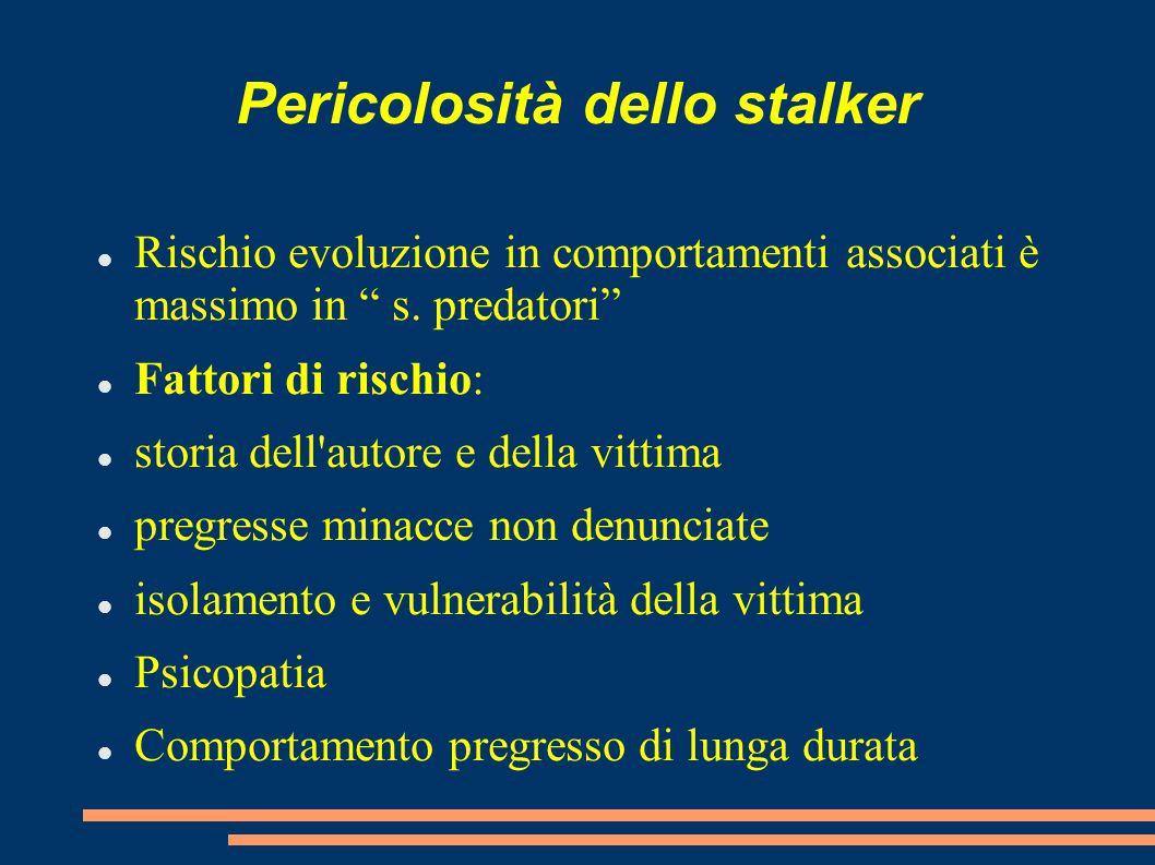 Pericolosità dello stalker