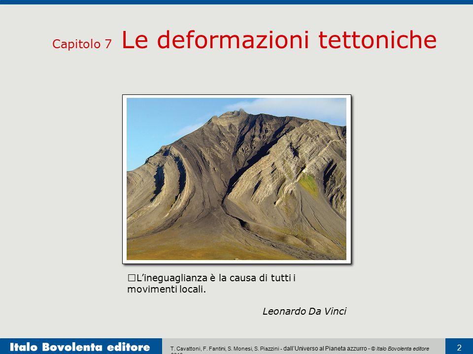 Capitolo 7 Le deformazioni tettoniche