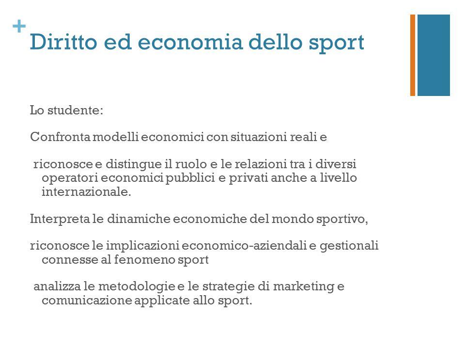 Diritto ed economia dello sport