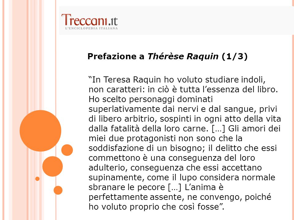 Prefazione a Thérèse Raquin (1/3)