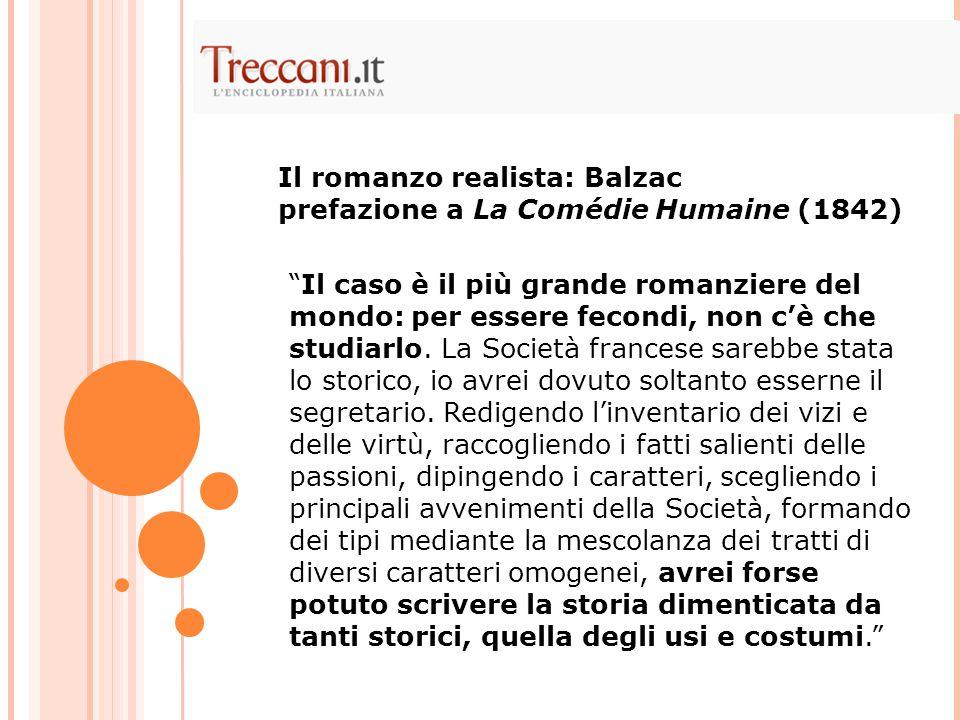 Il romanzo realista: Balzac