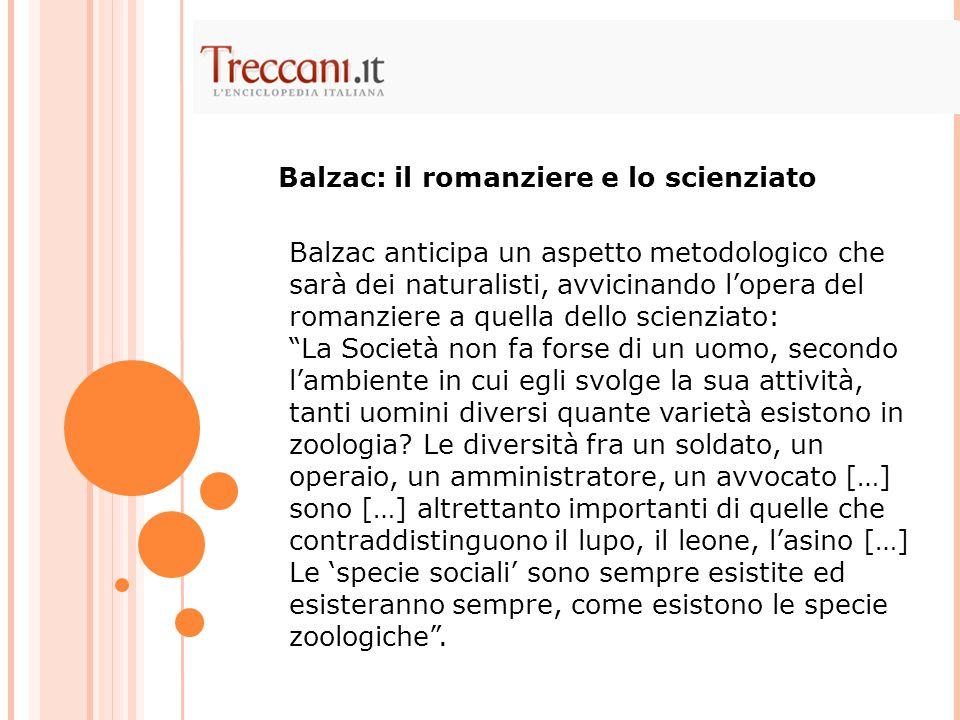 Balzac: il romanziere e lo scienziato