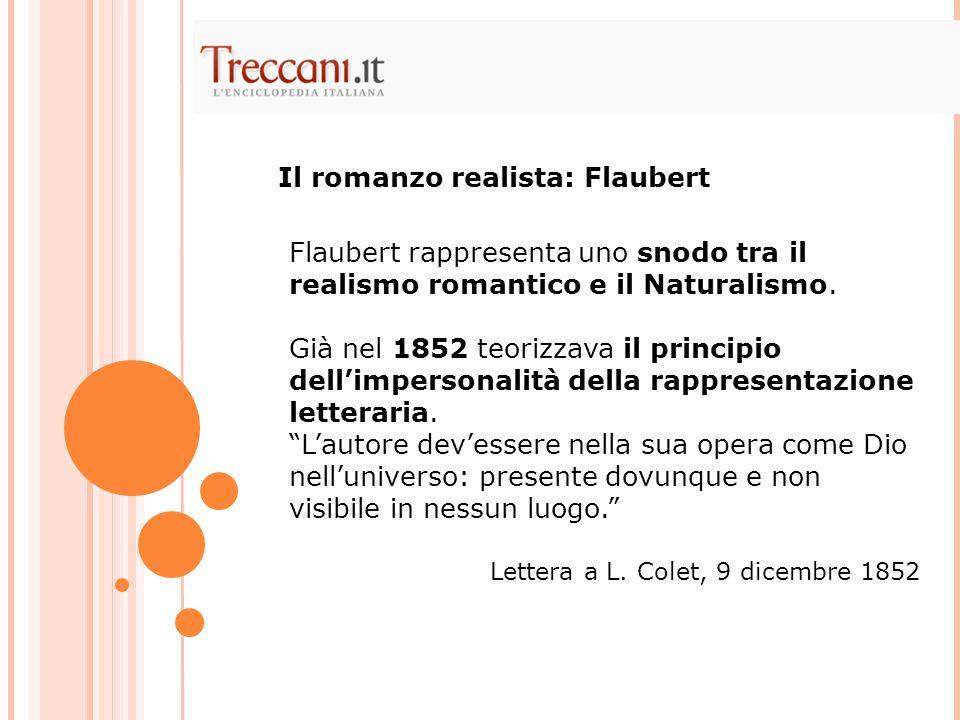 Il romanzo realista: Flaubert