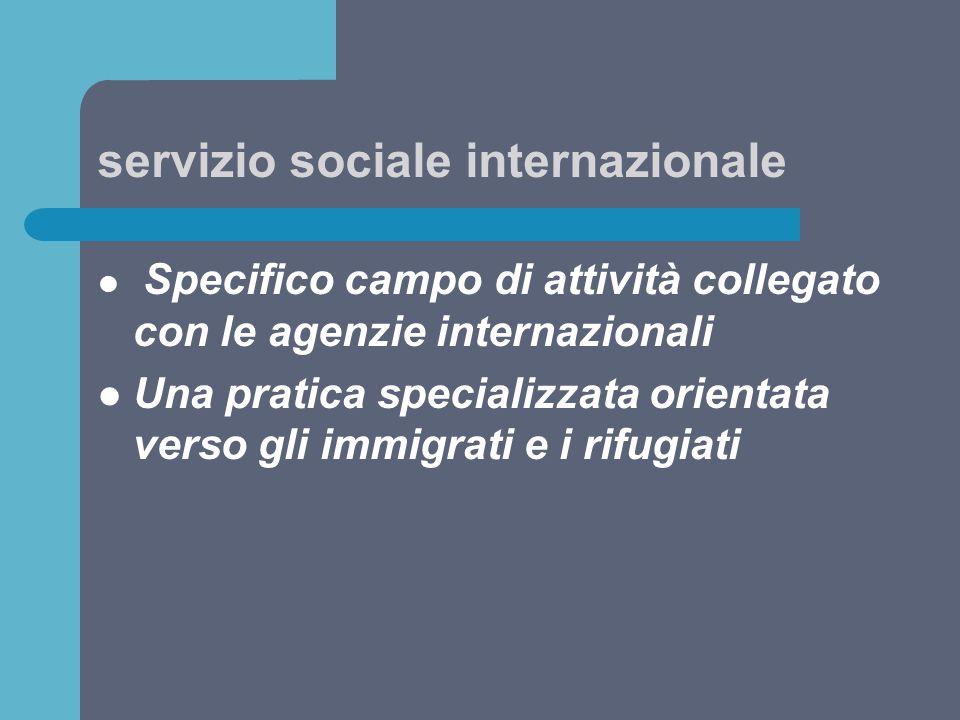 servizio sociale internazionale
