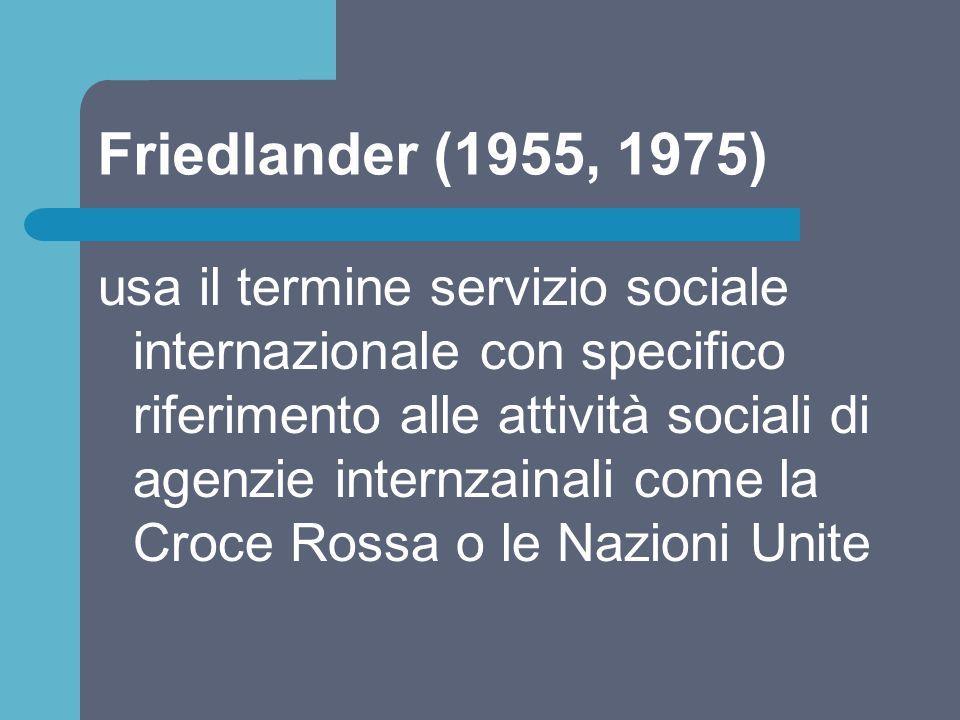 Friedlander (1955, 1975)