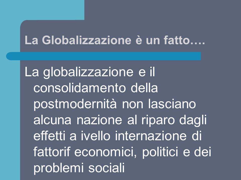 La Globalizzazione è un fatto….