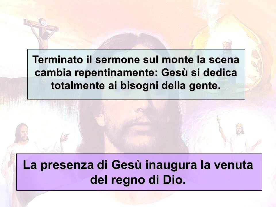 La presenza di Gesù inaugura la venuta del regno di Dio.