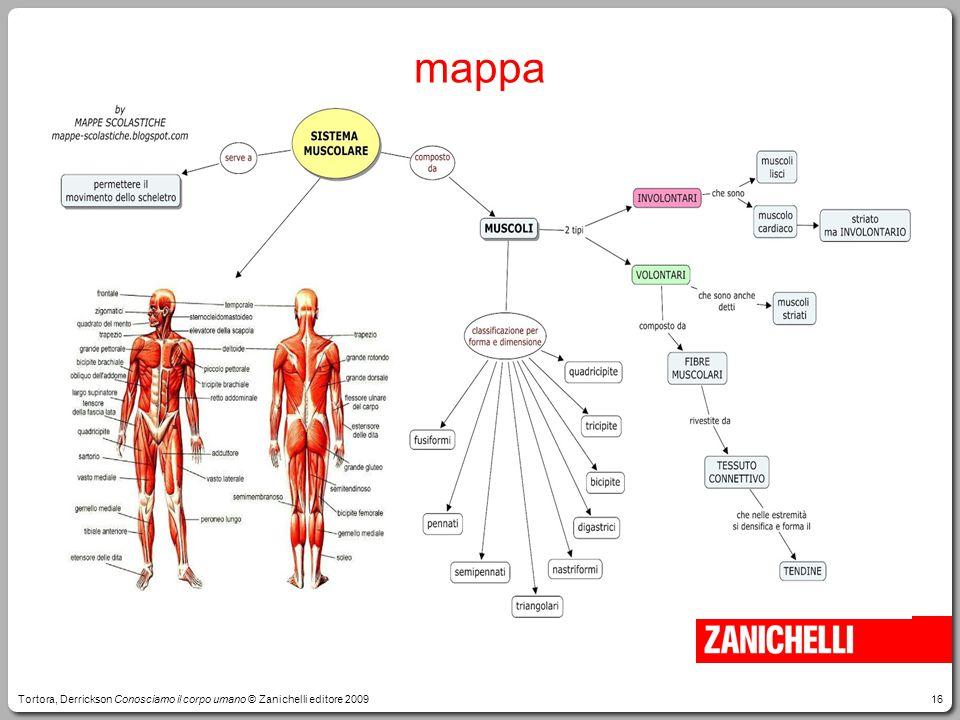 mappa Tortora, Derrickson Conosciamo il corpo umano © Zanichelli editore 2009