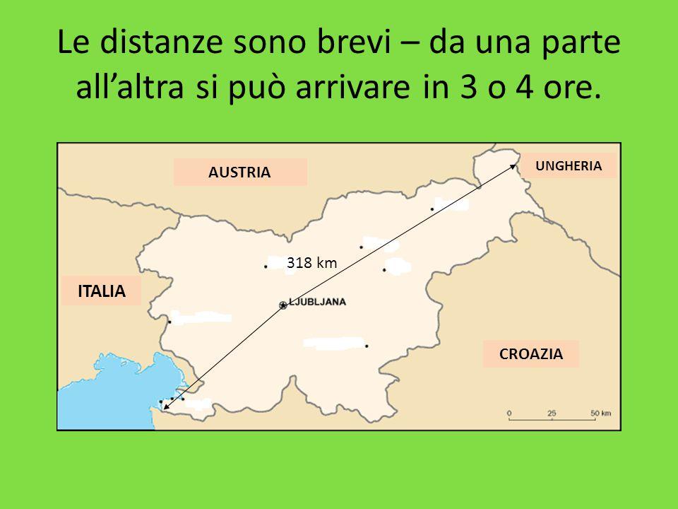 Le distanze sono brevi – da una parte all'altra si può arrivare in 3 o 4 ore.