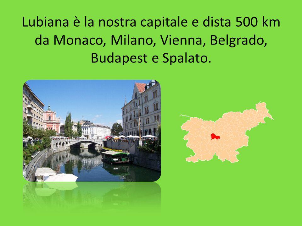 Lubiana è la nostra capitale e dista 500 km da Monaco, Milano, Vienna, Belgrado, Budapest e Spalato.