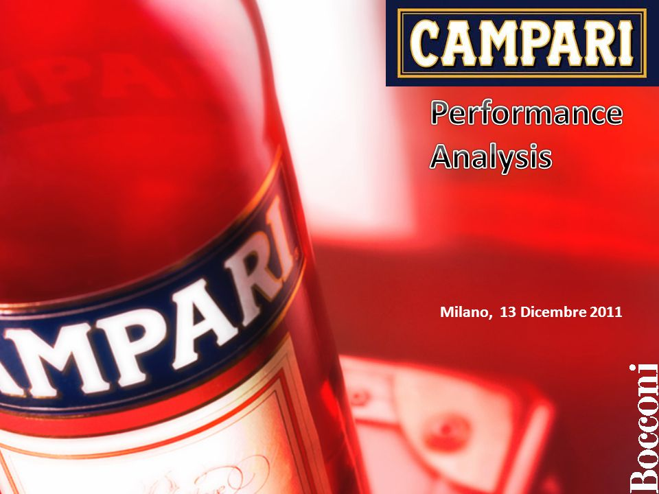 Performance Analysis Milano, 13 Dicembre 2011