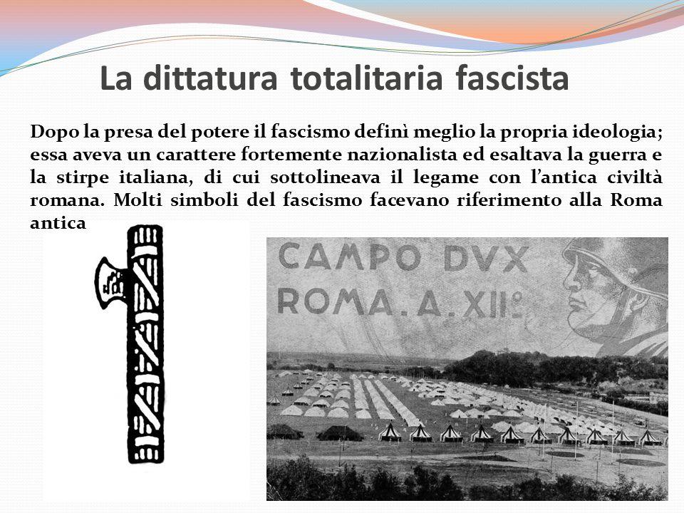 La dittatura totalitaria fascista