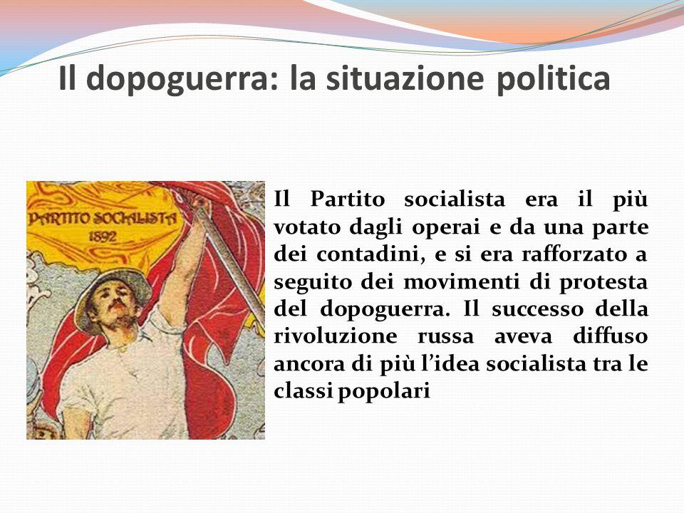 Il dopoguerra: la situazione politica