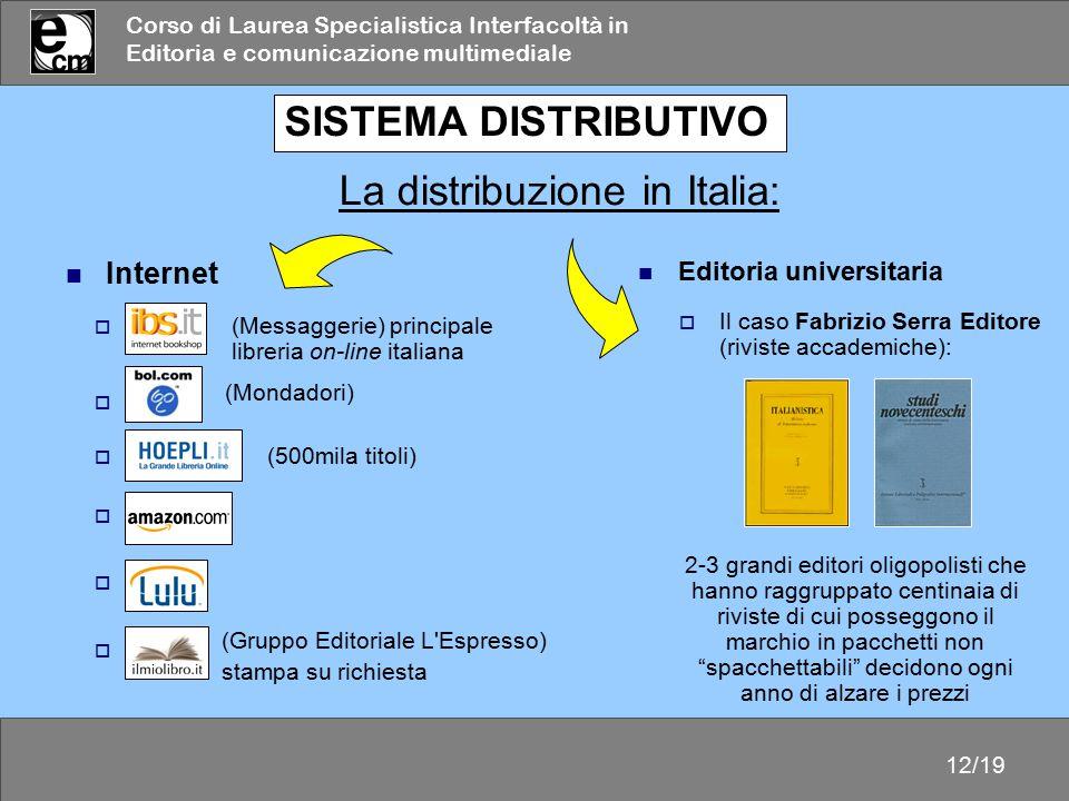 La distribuzione in Italia: