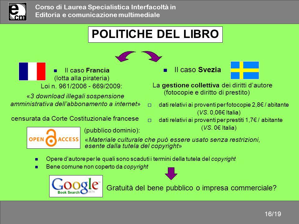 POLITICHE DEL LIBRO Il caso Svezia