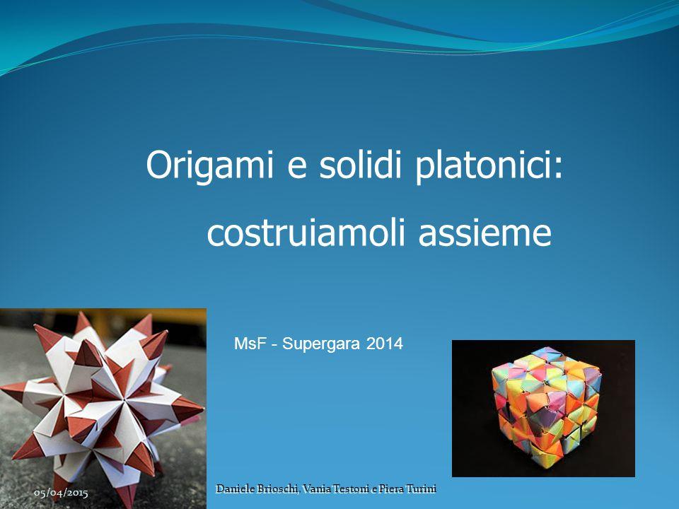 Origami e solidi platonici: