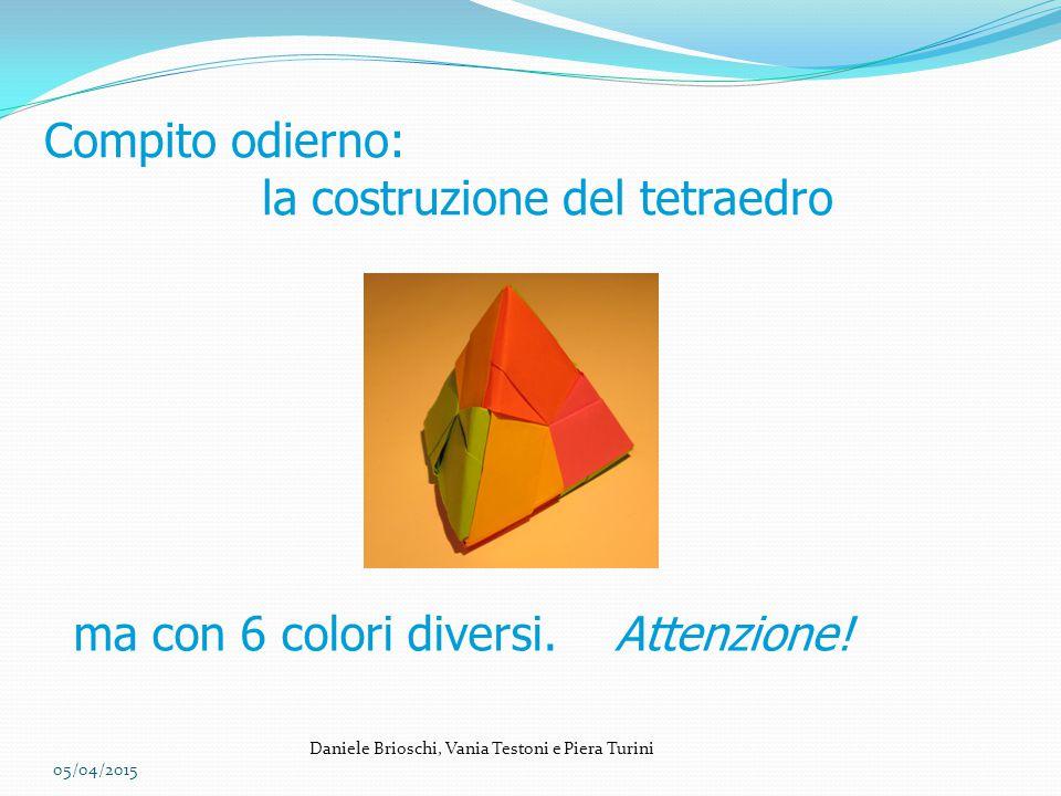 la costruzione del tetraedro
