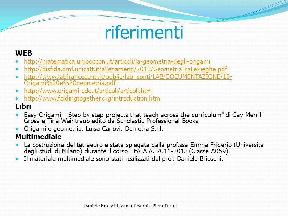 riferimenti WEB Libri Multimediale