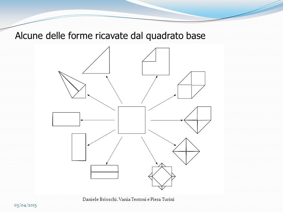 Alcune delle forme ricavate dal quadrato base