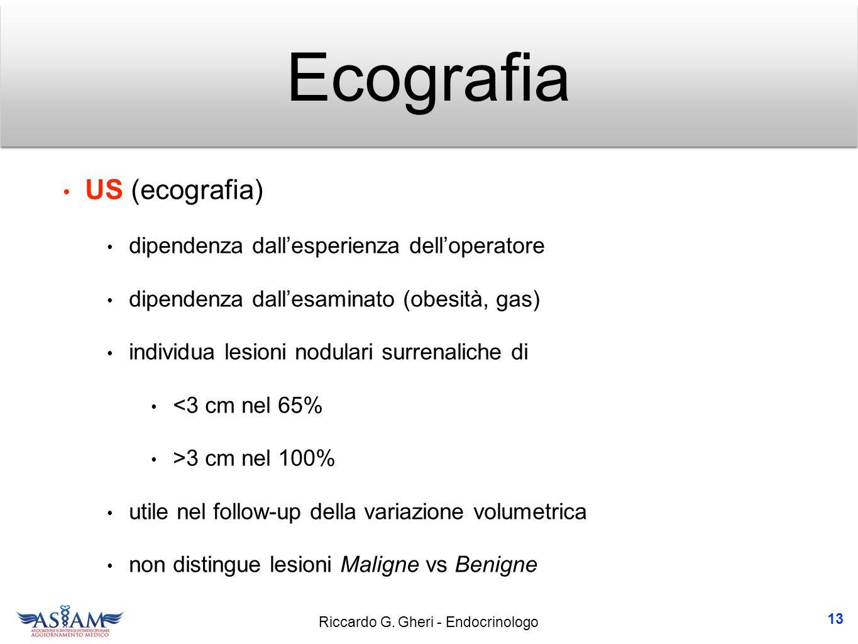 Ecografia US (ecografia) dipendenza dall'esperienza dell'operatore