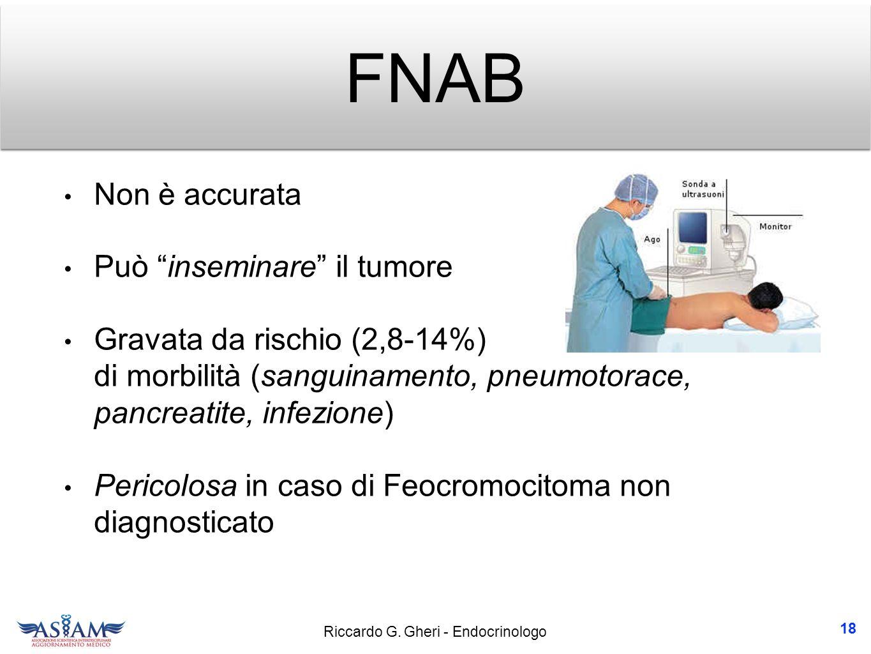 FNAB Non è accurata Può inseminare il tumore